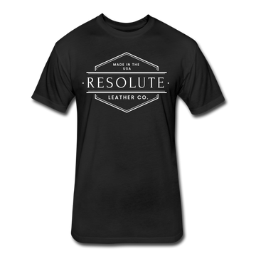 Resolute Leather Co. T-Shirt by Next Level - black