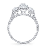 NEIL LANE CUSHION BRILLIANT-CUT DIAMOND, PLATINUM RING