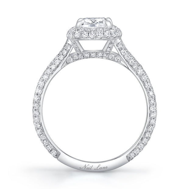 NEIL LANE VINTAGE CUSHION-SHAPED DIAMOND, PLATINUM RING