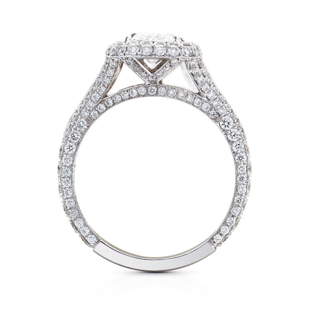 NEIL LANE CUSHION DIAMOND, PLATINUM RING
