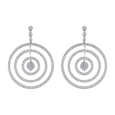 NEIL LANE DIAMOND, PLATINUM TRIPLE HOOP EARRINGS