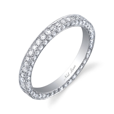 Diamond, Platinum Three Sided Eternity Band