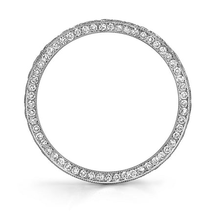 NEIL LANE DIAMOND, PLATINUM THREE SIDED ETERNITY BAND