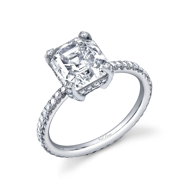 Neil Lane Couture Design Step-Cut Diamond, Platinum Ring