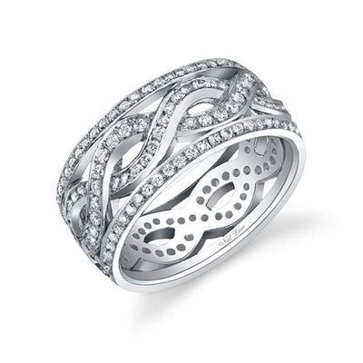Round Diamond, Platinum Band