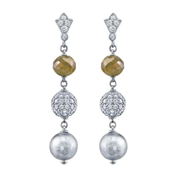 Neil Lane Couture Diamond, Platinum Earrings