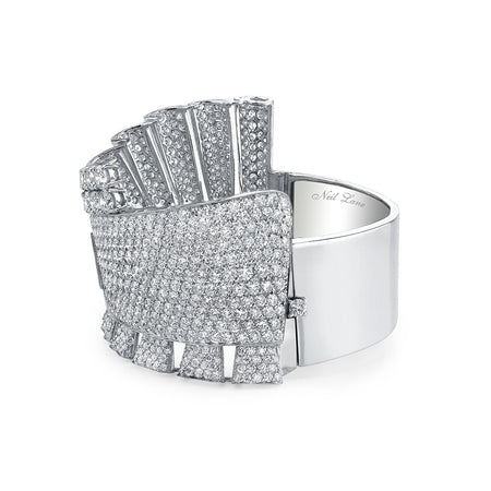 Diamond & Platinum Cuff Bangle