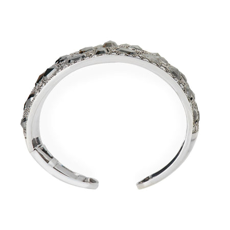 Neil Lane Couture Design Black & White Diamond, Platinum Cuff Bracelet