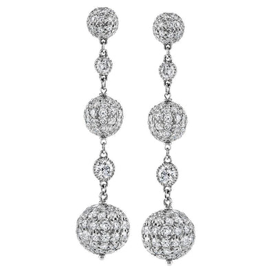 NEIL LANE DIAMOND, PLATINUM PENDANT STYLE EARRINGS