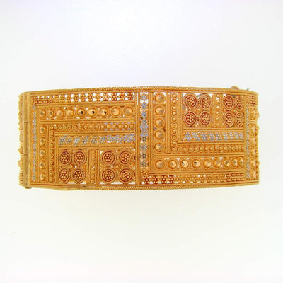 Patterned Gold Cuff