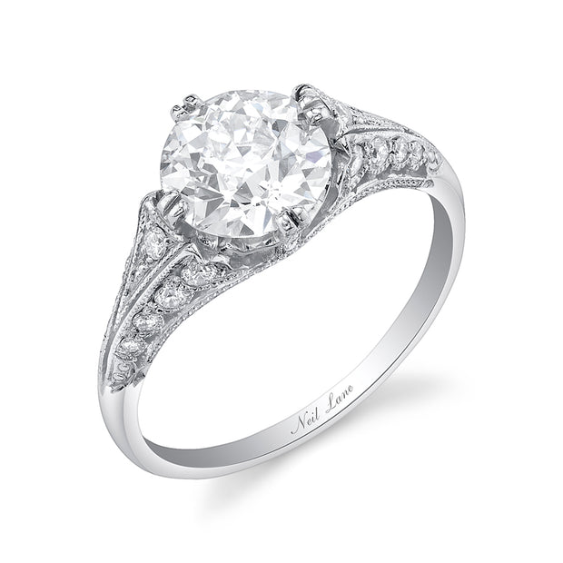 NEIL LANE OLD EUROPEAN-CUT DIAMOND, PLATINUM RING
