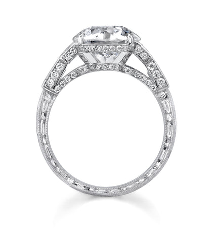 NEIL LANE COUTURE DESIGN OLD EUROPEAN-CUT DIAMOND, PLATINUM RING