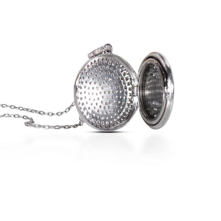 Neil Lane Couture Round-Cut Diamond, Platinum Locket, Pendant Necklace