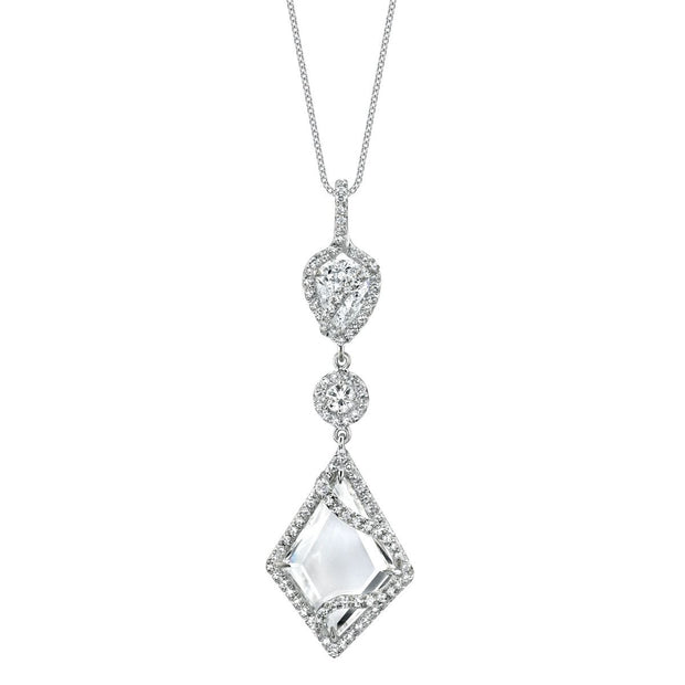 DIAMOND, PLATINUM PENDANT NECKLACE