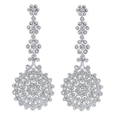 NEIL LANE DIAMOND, PLATINUM PENDANT DROP EARRINGS