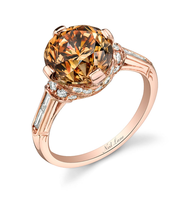 Neil Lane Couture Design Fancy Colored Diamond, 18K Rose Gold Ring