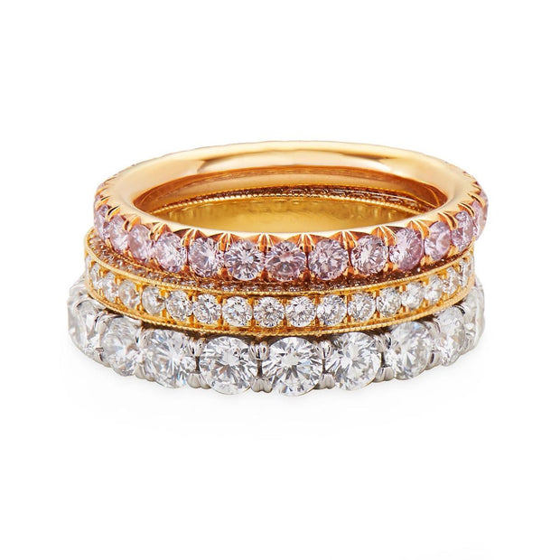 ROUND DIAMOND, 18K YELLOW GOLD ETERNITY BAND