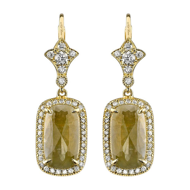 NEIL LANE COLORED DIAMOND, 18K YELLOW GOLD EARRINGS