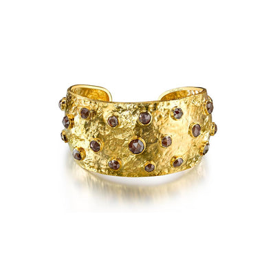 Rough Diamonds & Yellow Gold Cuff