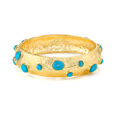 Turquoise & Gold Cuff Bracelet