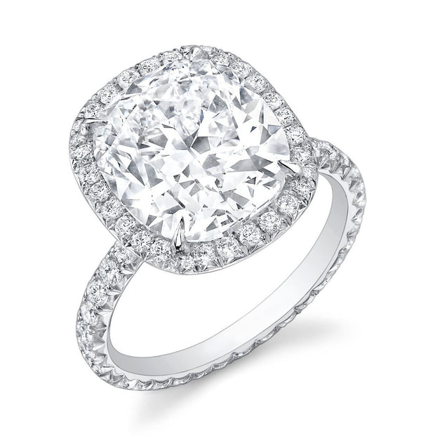 CUSHION DIAMOND, PLATINUM RING
