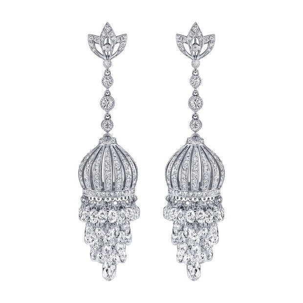 Neil Lane Couture Diamond, Platinum Chandelier Earrings