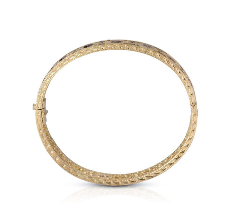 Neil Lane Couture Floral Colored Diamond, 18K Yellow Gold Bangle Bracelet