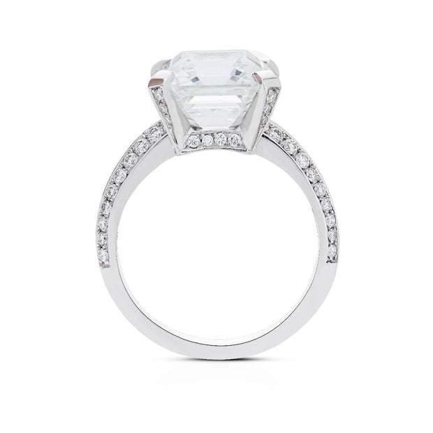 NEIL LANE SQUARE EMERALD CUT DIAMOND, PLATINUM ENGAGEMENT RING