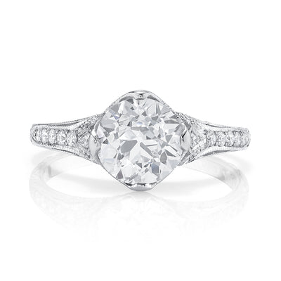 NEIL LANE COUTURE DESIGN OLD EUROPEAN DIAMOND, PLATINUM RING