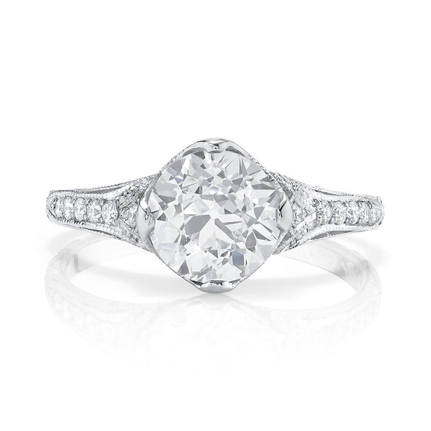 NEIL LANE OLD EUROPEAN DIAMOND, PLATINUM RING