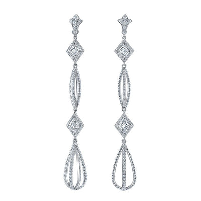 NEIL LANE DIAMOND, PLATINUM PENDANT EARRINGS