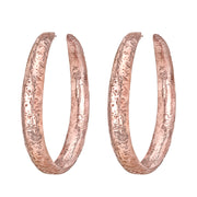 NEIL LANE 14K ROSE GOLD HAND HAMMERED HOOP EARRINGS