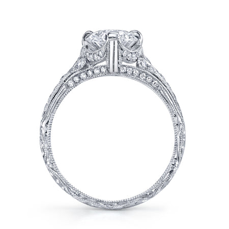 Neil Lane Couture Design Oval-Shaped Diamond, Platinum Ring