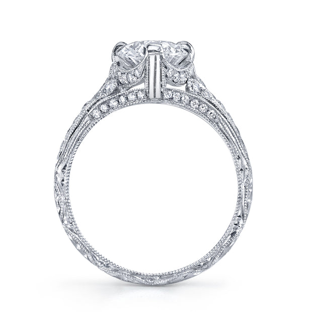 NEIL LANE OVAL-SHAPED DIAMOND, PLATINUM RING