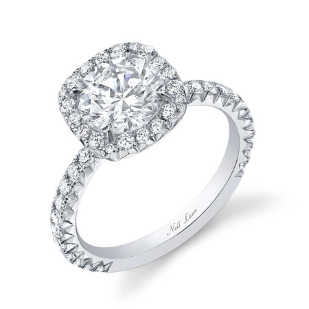 Neil Lane Couture Design Round Diamond, Platinum Engagement Ring