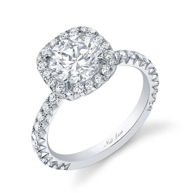NEIL LANE ROUND DIAMOND, PLATINUM ENGAGEMENT RING