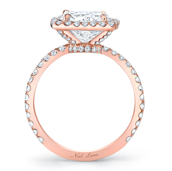 Neil Lane Couture Design Round Cut, Diamond Rose Gold Ring
