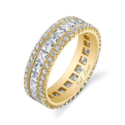 Diamond, 18k Yellow Gold Wedding Band