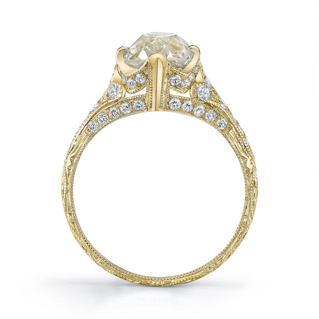 NEIL LANE COUTURE DESIGN CUSHION-SHAPED DIAMOND, 18K YELLOW GOLD ENGAGEMENT RING