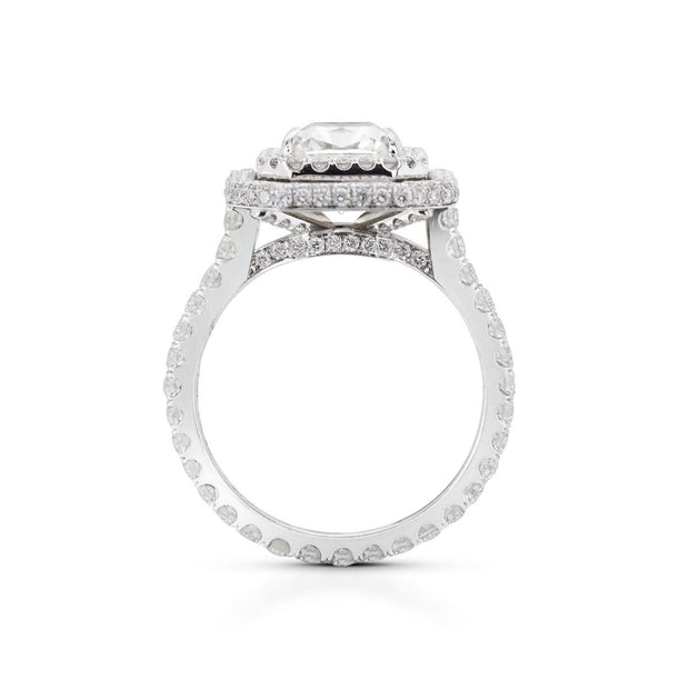 NEIL LANE SQUARE RADIANT DIAMOND, PLATINUM ENGAGEMENT RING