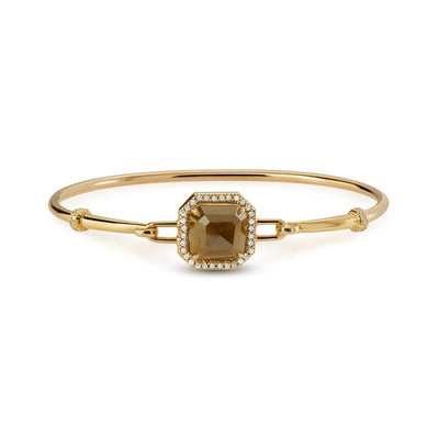 Neil Lane Couture Design Diamond & 18K Yellow Gold Bangle Bracelet