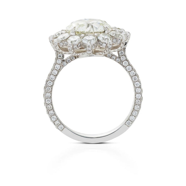 ROUND DIAMOND, SUNFLOWER ENGAGEMENT RING
