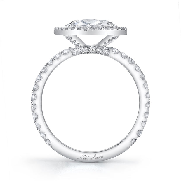 NEIL LANE ROSE-CUT DIAMOND, PLATINUM RING