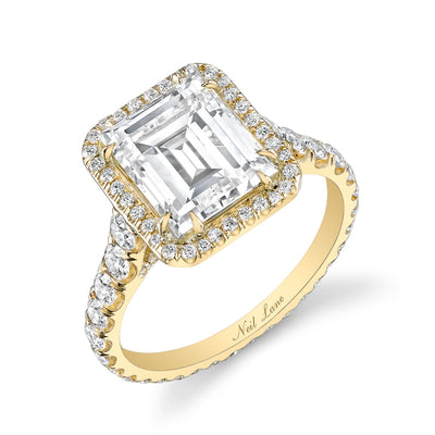 NEIL LANE EMERALD-CUT DIAMOND, 18K YELLOW GOLD RING