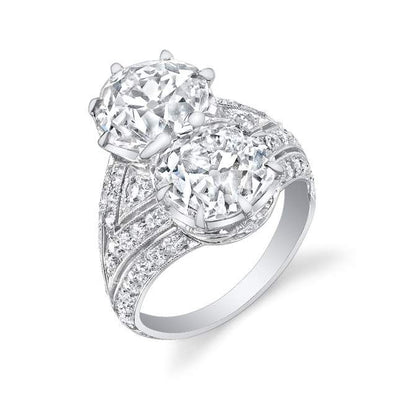 ART DECO DIAMOND, PLATINUM RING