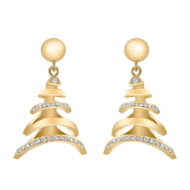 NEIL LANE DIAMOND, 14K YELLOW GOLD EARRINGS