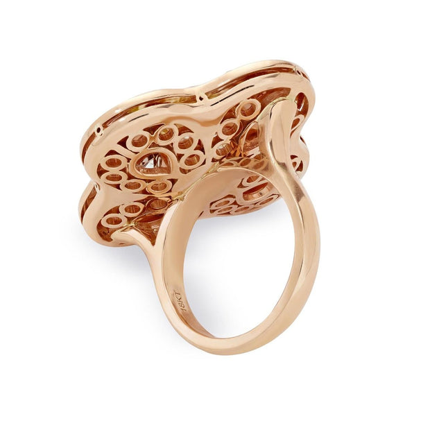 FANCY COLOR DIAMOND, 18K ROSE GOLD RING