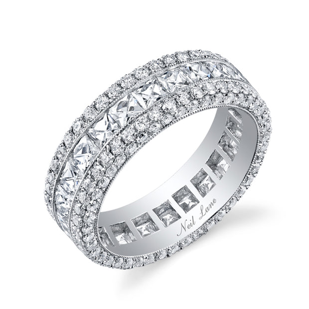 Diamond & Platinum Eternity Band