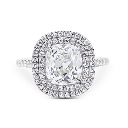 NEIL LANE COUTURE DESIGN CUSHION-CUT DIAMOND, PLATINUM ENGAGEMENT RING