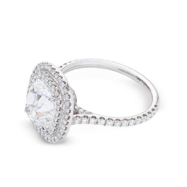NEIL LANE DESIGN CUSHION-CUT DIAMOND, PLATINUM ENGAGEMENT RING